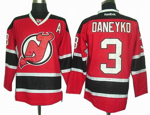 New Jersey Devils  3 Ken Daneyko Red jerseys
