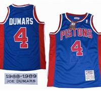 Detroit Pistons 4 Joe Dumars Throwback Swingman Blue jerseys