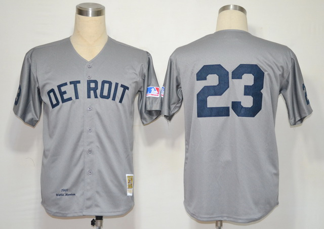 MLB Jerseys Detroit Tigers 23 Gibson Grey M&N 1969