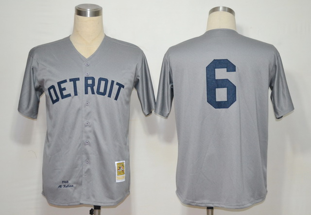 MLB Jerseys Detroit Tigers 6 Kaline Grey M&N 1968