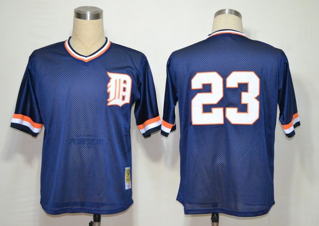 MLB Jerseys Detroit Tigers 23 Gibson Blue M&N