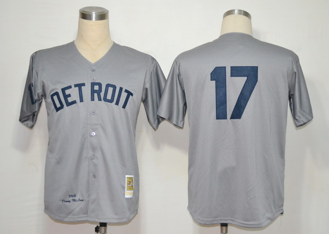 MLB Jerseys Detroit Tigers 17 Mclain Grey M&N 1968