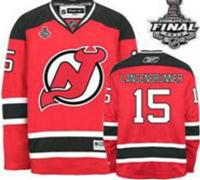 New Jersey Devils #15 Jamie Langenbrunner Red Home With 2012 Stanley Cup Finals Jersey