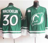 New Jersey Devils 30 Brodeur Green Jerseys 2011 St Pattys Day