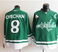 Washington Capitals 8 OVECHAN Green Jerseys 2011 St Pattys Day
