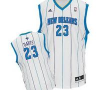 New Orleans Hornets 23# Anthony Davis white Jersey
