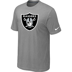 Oakland Raiders Sideline Legend Authentic Logo Dri-FIT T-Shirt Light grey
