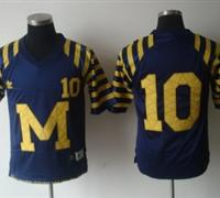 NCAA Michigan Wolverines 10# Bardy Under The Lights Blue Adidas Jersey