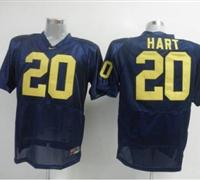 Wolverines #20 Mike Hart Blue Embroidered NCAA Jerseys