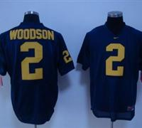 Wolverines #2 Charles Woodson Blue Embroidered NCAA Jerseys