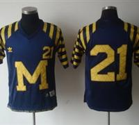 NCAA Michigan Wolverines 21# HOWARD Under The Lights Blue Adidas Jersey