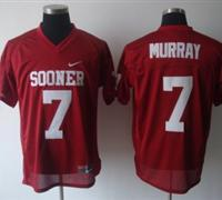 Sooners #7 DeMarco Murray Red Embroidered NCAA Jersey