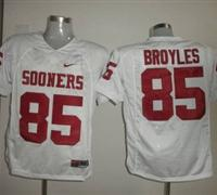 Sooners #85 Ryan Bryoles White Embroidered NCAA Jersey