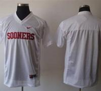 Sooners Blank White Embroidered NCAA Jersey