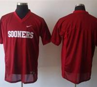 Sooners Blank Red Embroidered NCAA Jersey