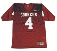 Sooners #4 Red Embroidered NCAA Jersey