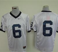 Nittany Lions #6 Navy white Embroidered NCAA Jersey