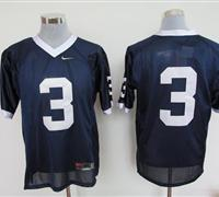 Nittany Lions #3 Navy Blue Embroidered NCAA Jerseys