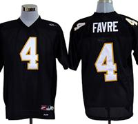 Nike Southern Mississippi Golden Eagles Brett Favre 4 Black College Football Throwback Jerseys