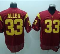 Trojans #33 Marcus Allen Red Embroidered NCAA Jersey