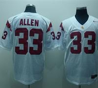 Trojans #33 Marcus Allen White Embroidered NCAA Jersey