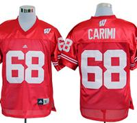 Adidas Wisconsin Badgers Gabe Carimi 68 Red College Football Jerseys