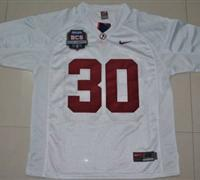 Crimson Tide #30 Donot Hightower White 2012 BCS Championship Patch Embroidered NCAA Jersey