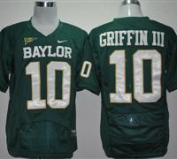 Bears #10 Robert Griffin III Green Embroidered NCAA Jersey