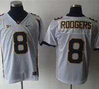 Golden Bears #8 Rodgers White Embroidered NCAA Jersey