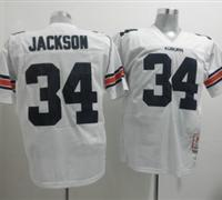 Tigers #34 Bo Jackson White Throwback Embroidered NCAA Jersey