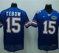 Gators #15 Tim Tebow Blue Embroidered NCAA Jersey