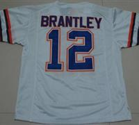 Gators #12 John Brantley White Embroidered NCAA Jersey