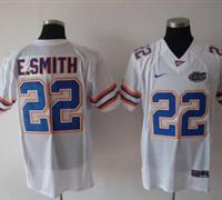 Gators #22 E.Smith White Embroidered NCAA Jersey