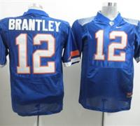 Gators #12 John Brantley Blue Embroidered NCAA Jersey