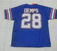 Gators #28 Jeff Demps Blue Embroidered NCAA Jersey