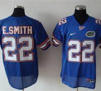 Gators #22 E.Smith Blue Embroidered NCAA Jersey