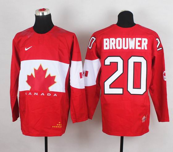 2014 IIHF Ice Hockey World Championship jersey 20# Brouwer red