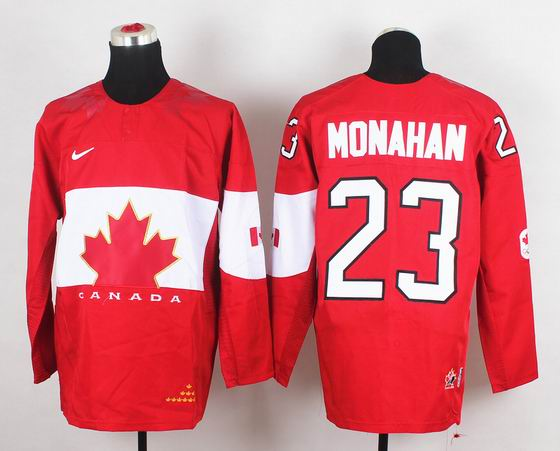 2014 IIHF Ice Hockey World Championship jersey 23# Monahan red