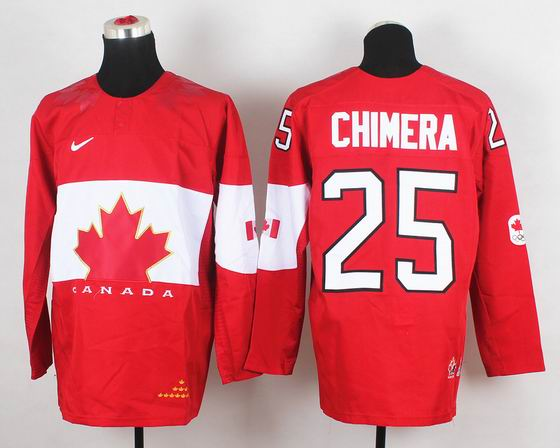 2014 IIHF Ice Hockey World Championship jersey 25# Chimera red