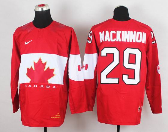 2014 IIHF Ice Hockey World Championship jersey 29# Mackinnon red