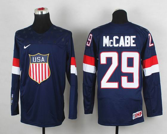 2014 IIHF Ice Hockey World Championship jersey 29# McCabe blue