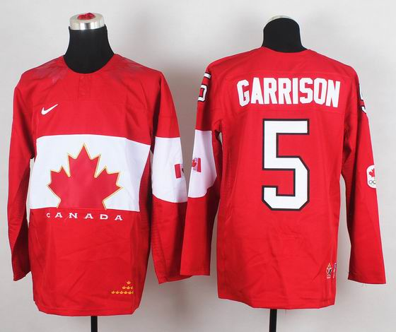2014 IIHF Ice Hockey World Championship jersey 5# Garrison red