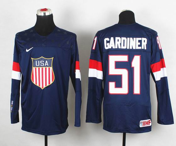 2014 IIHF Ice Hockey World Championship jersey 51# Gardiner blue