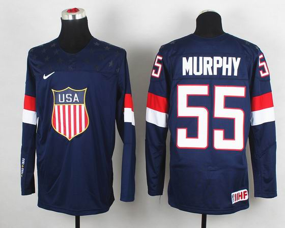 2014 IIHF Ice Hockey World Championship jersey 55# Murphy blue