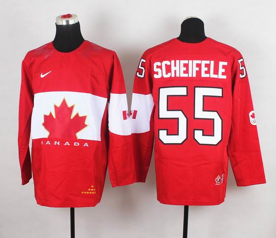 2014 IIHF Ice Hockey World Championship jersey 55# Scheifele red