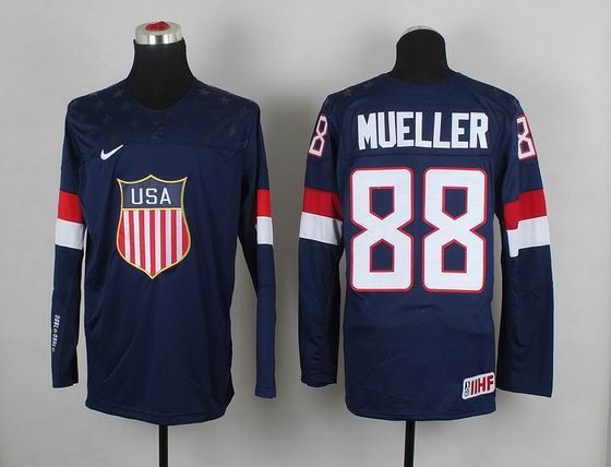 2014 IIHF Ice Hockey World Championship jersey 88# Mueller blue