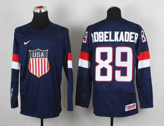 2014 IIHF Ice Hockey World Championship jersey 89# Adbelkader blue
