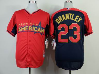 2014 MLB all star Cleveland Indians #23 brantley blue Jersey