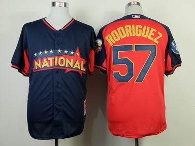 2014 MLB all star Milwaukee Brewers #57 rodriguez blue Jersey