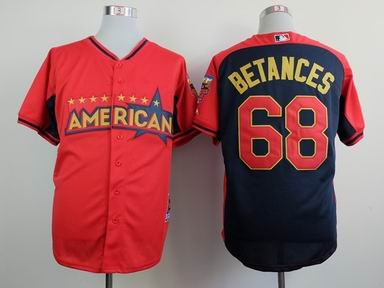 2014 MLB all star New York Yankees 68# Betances blue Jersey